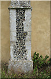 TM1582 : St George's Church - scratch dial on south buttress by Evelyn Simak