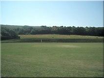 TQ3303 : East Brighton Park Cricket Ground by Paul Gillett