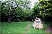 SP4802 : Footpath to the Wild Garden at Jarn Mound by Steve Daniels