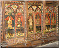 TG2902 : St Mary's church - C15 rood screen dado by Evelyn Simak