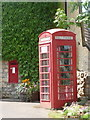 ST7306 : Mappowder: postbox № DT10 52 and telephone by Chris Downer