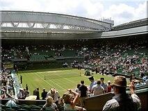 TQ2472 : Wimbledon AELTC centre court 2009 by Steve  Fareham