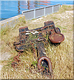 SZ3394 : An anchor beside the coast path by Andy F