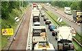 J2965 : Motorway queue near Lisburn (2) by Albert Bridge