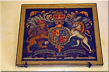 TF7633 : Royal Arms of George III by Tiger