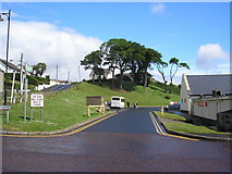 D2818 : Trees and entrance to car park, Carnlough, Co. Antrim by Dr Neil Clifton