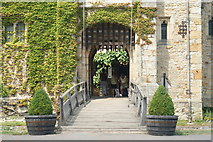 TQ4745 : Entrance to Hever Castle, Hever, Kent by Peter Trimming