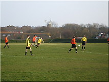 TQ5704 : Polegate War Memorial Ground - Polegate Town FC by nick macneill