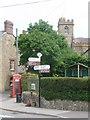 ST4302 : Broadwindsor: Bernard's Place signpost by Chris Downer