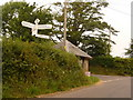 ST3702 : Thorncombe: Thorncombe Thorn finger-post by Chris Downer