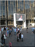 SU6400 : Tennis fans in Guildhall Square watching Andy Murray by Basher Eyre