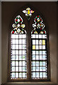 TM1897 : St Michael's church - medieval glass by Evelyn Simak