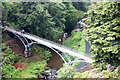NU0702 : Iron Bridge seen from Cragside House by Andy F