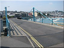 SW4730 : Swing bridge by Penzance harbour by Sarah Charlesworth