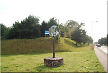 TG1807 : Village sign, Colney by N Chadwick