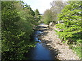 NY9038 : The River Wear upstream of the bridge at Westgate by Mike Quinn