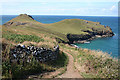 SW9380 : St Minver Highlands: towards The Rumps by Martin Bodman