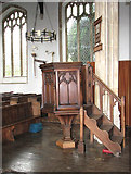 TM0890 : St Martin's Church - the pulpit by Evelyn Simak