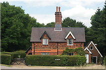 TQ1350 : Fox Cottages, Ranmore Common Road, Surrey by Peter Trimming