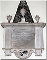 TG1700 : All Saints Church - C18 monument by Evelyn Simak