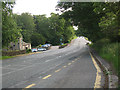 SD9451 : The A59 at Broughton, looking West by Stephen Craven