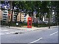 TQ3082 : Telephone box in Regents Square by PAUL FARMER