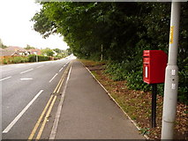 SZ0095 : Broadstone: postbox № BH18 83, Lower Blandford Road by Chris Downer