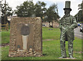 SX4358 : Statue of Brunel and memorial - Saltash by Mick Lobb