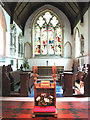 TM0287 : St Andrew's church - the chancel by Evelyn Simak