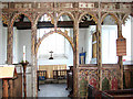 TM2290 : St Margaret's church - rood screen by Evelyn Simak