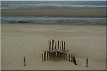 TF7145 : Coastal defences on Holme beach by Fractal Angel