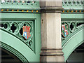 TQ3079 : Coats of Arms, Westminster Bridge, London by Christine Matthews