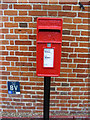 TM3464 : Corner Cottage Postbox by Adrian Cable