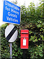 TM3861 : Bigsby's Corner Postbox & Roadsign by Adrian Cable