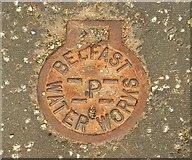J3371 : Manhole cover, Belfast by Albert Bridge