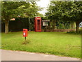 ST8517 : Bedchester: postbox № SP7 37 and phone by Chris Downer
