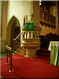 SE1223 : The Parish Church of St Anne in the Grove, Southowram, Pulpit by Alexander P Kapp