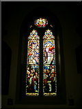 SE1223 : The Parish Church of St Anne in the Grove, Southowram, Stained glass window by Alexander P Kapp