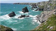 SW8469 : Bedruthan steps by David Cantrill