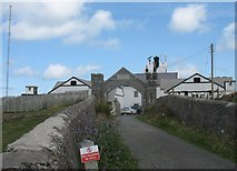 SH4793 : Point Lynas Lighthouse from the rear by Eric Jones
