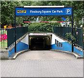 TQ3282 : Finsbury Square carpark entrance, London EC1 by Andy F
