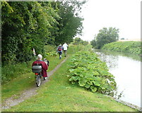 SU0662 : On the towpath of the Kennet and Avon Canal by Russel Wills