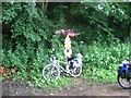 SO8304 : Millennium milepost on NCN45 by Colin Bell