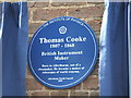 SE7847 : Memorial plaque to Thomas Cooke by Mark Hurn