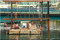 J3474 : New pontoon, Belfast by Albert Bridge