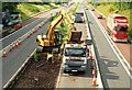 J2965 : Roadworks, M1 near Lisburn by Albert Bridge