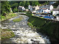 SS7249 : River Lyn, Lynmouth by Philip Halling