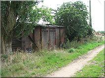 TG3204 : Railway goods van / farm shed by Evelyn Simak