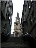 NZ2564 : Steps leading to All Saints Church by Roger Smith