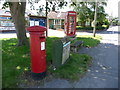 SY8386 : Wool: postbox № BH20 146 and phone, Dorchester Road by Chris Downer